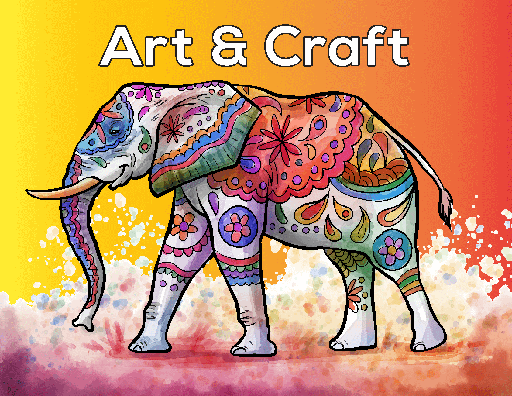 A Colorful Elephant's Art and Craft Logo Design by LogoSkill.