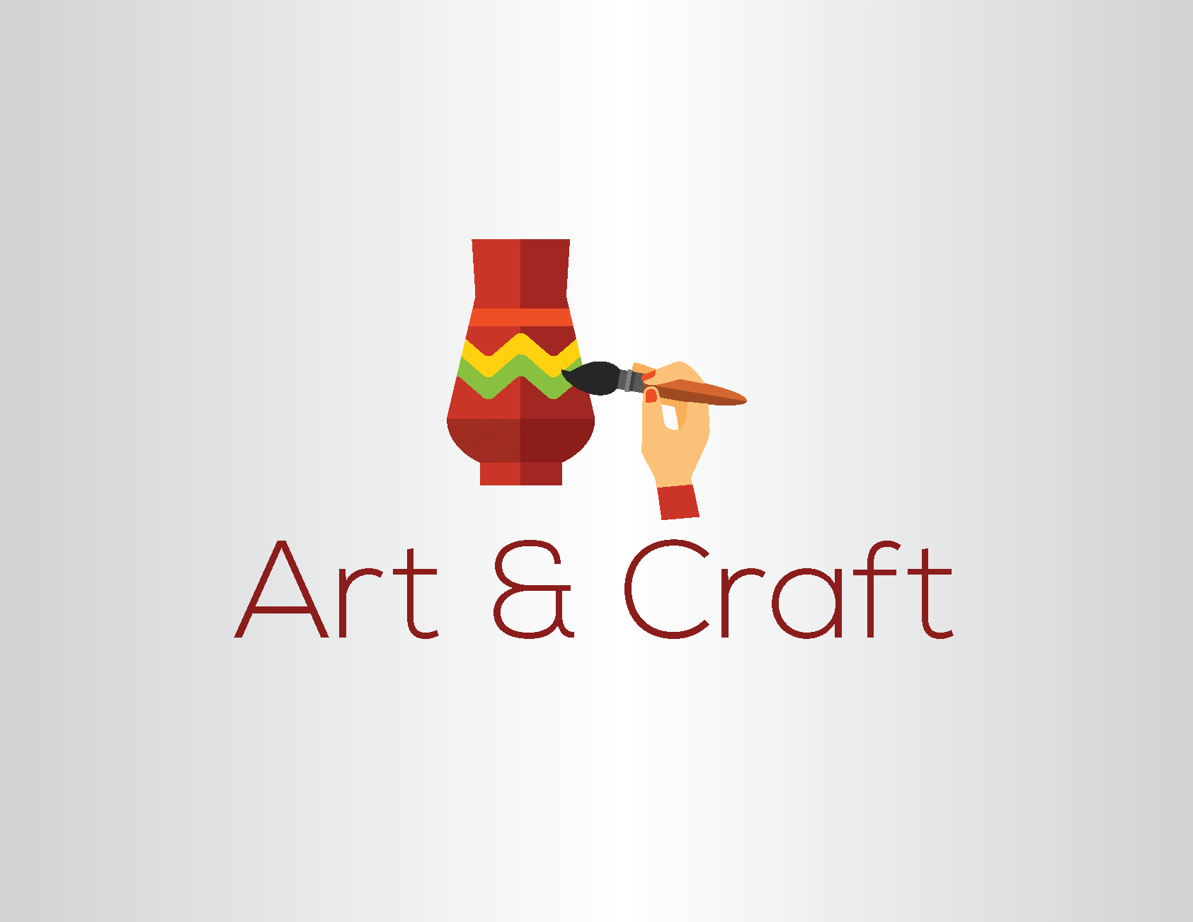 The Handcrafted Logo of Multicolored Pot by LogoSkill.